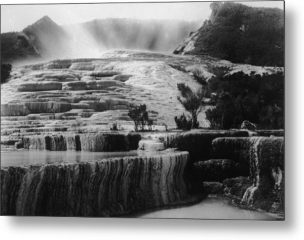 Pink & White Terraces Metal Print by General Photographic Agency