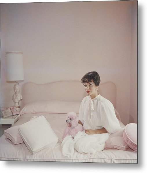 Pink Accessory Metal Print by Slim Aarons