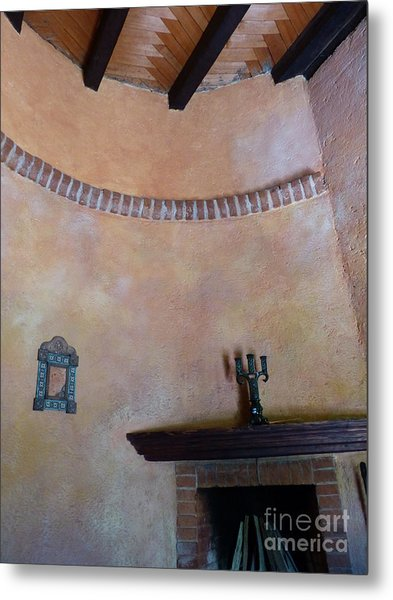 Metal Print featuring the photograph Pink Adobe Wall by Rosanne Licciardi