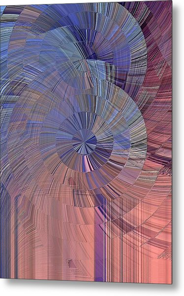 Pink, Blue And Purple Metal Print