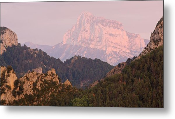 Metal Print featuring the photograph Pink Pena Montanesa by Stephen Taylor