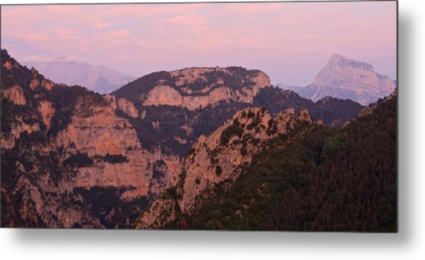Metal Print featuring the photograph Pink Skies Above Pena Montanesa by Stephen Taylor