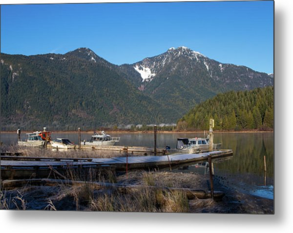 Pitt Lake Winterimpression Metal Print
