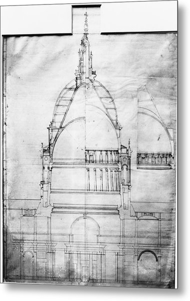 Plan Of St Pauls Metal Print by Topical Press Agency