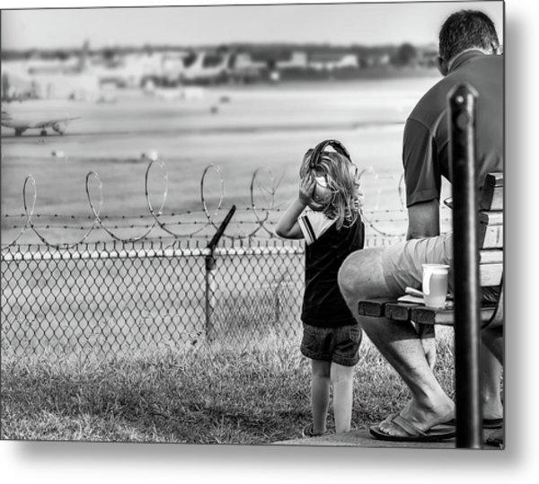 Plane Watching Metal Print