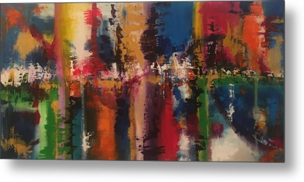 Playing With Color II Metal Print