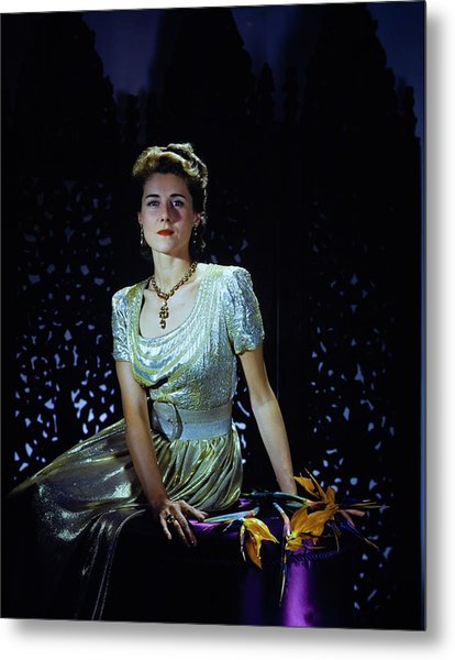 Playwright Clare Boothe Luce Metal Print by Horst P. Horst