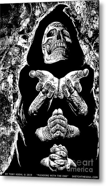Pleading With The End Metal Print