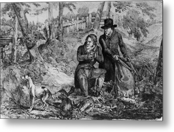 Poachers At Work Metal Print by Hulton Archive