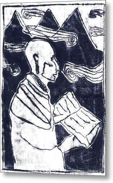 Poet Reading To Wind Clouds Otdv3 13 Metal Print