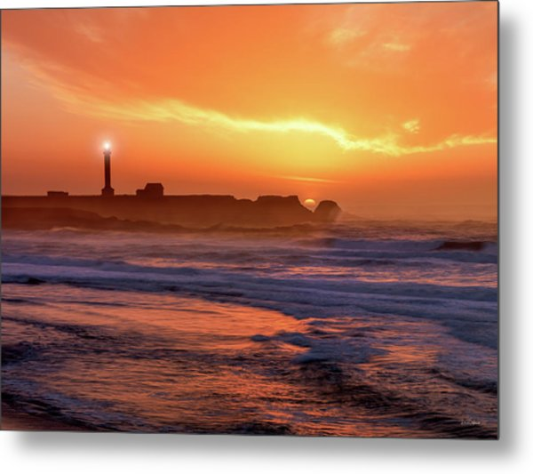 Point Arena Lighthouse Metal Print by Leland D Howard