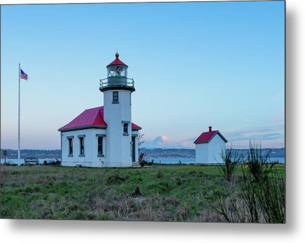 Point Robinson Lighthouse At Maury Island, Wa Metal Print