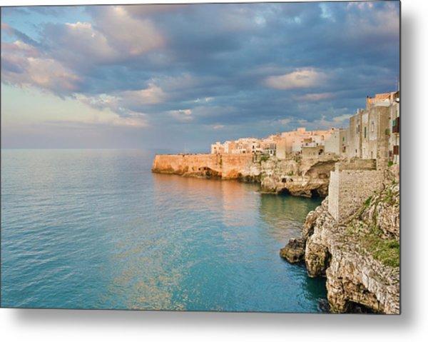 Polignano A Mare On The Adriatic Sea Metal Print