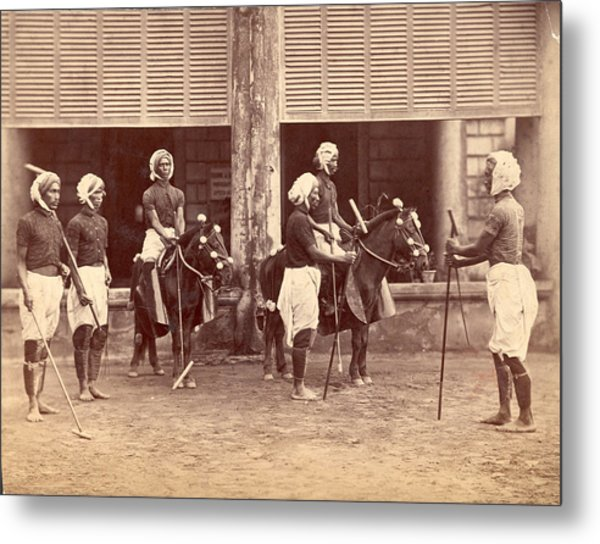 Polo In India Metal Print by Henry Guttmann Collection