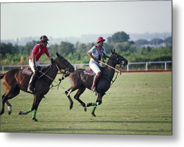 Polo In Italy Metal Print by Slim Aarons