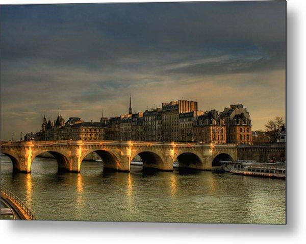 Pont Neuf  At Sunset, Paris, France Metal Print by Avi Morag Photography