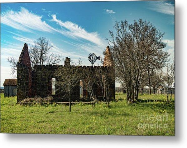 Pontotoc House Ruins Metal Print by Elijah Knight