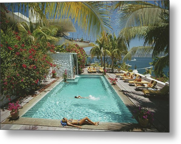 Pool At Las Hadas Metal Print