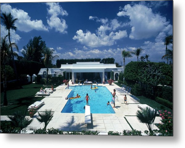 Pool In Palm Beach Metal Print