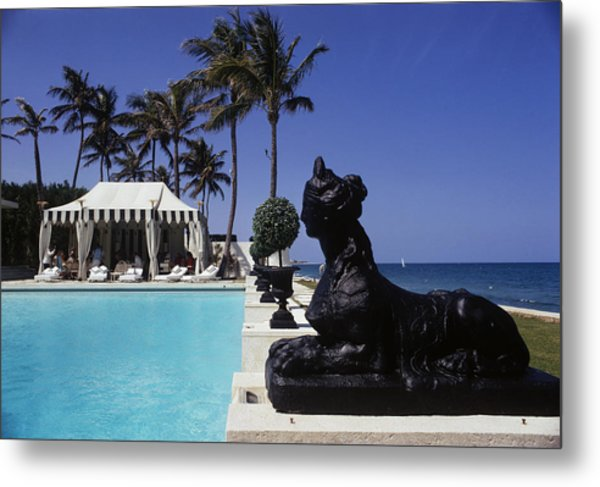 Poolside Luncheon Metal Print