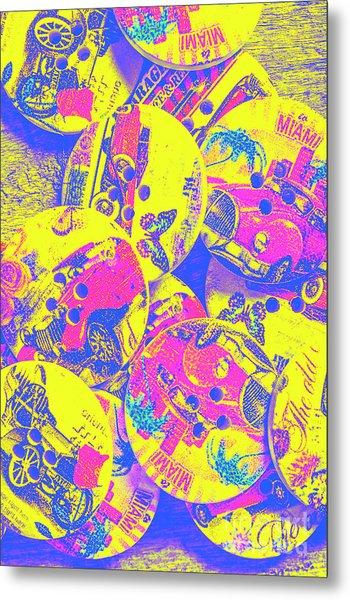 Pop Art Garage  Metal Print
