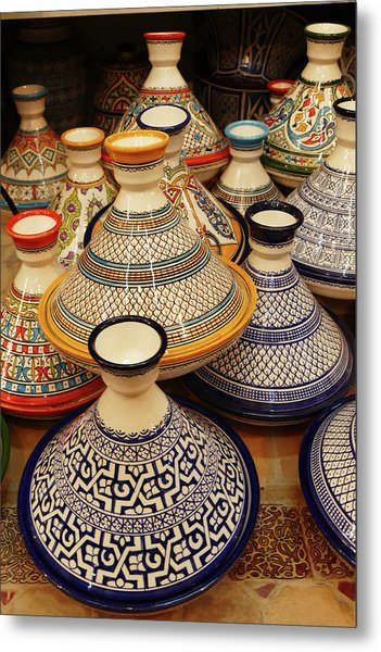 Porcelain Tagine Cookers  Metal Print