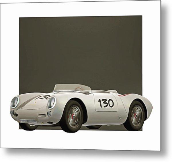 Metal Print featuring the digital art Porsche 550a Spyder 1956 by Jan Keteleer