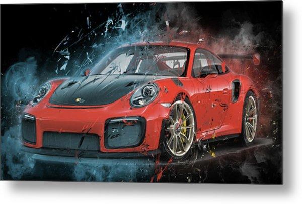 Porsche 911 Gt2 Metal Print