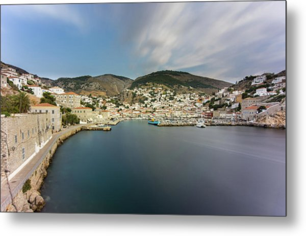 Port At Hydra Island Metal Print