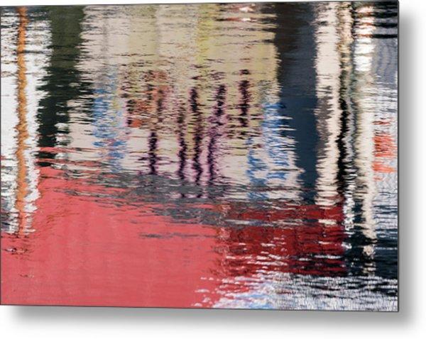 Port Reflections Metal Print