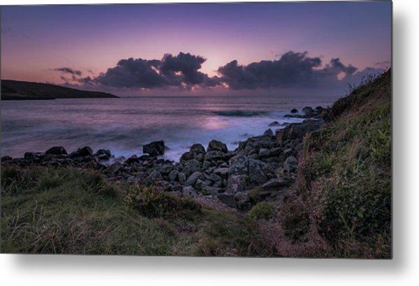 Porthmeor Sunset - Cornwall Metal Print