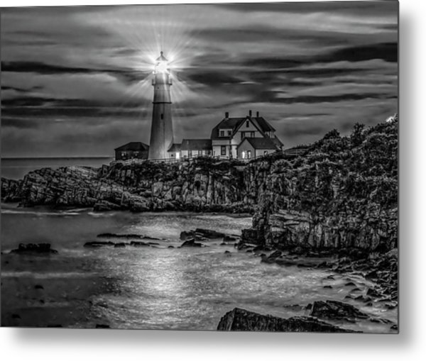 Portland Lighthouse 7363 Metal Print