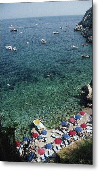 Porto Ercole Beach Metal Print by Slim Aarons