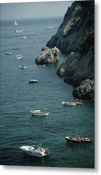 Porto Ercole Boats Metal Print by Slim Aarons