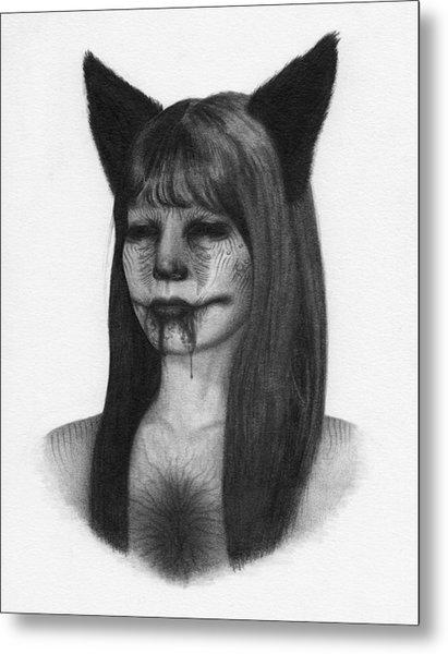 Portrait Of A Kumiho - Artwork Metal Print