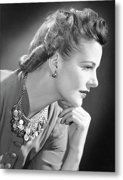 Portrait Of A Thinking Woman Metal Print by George Marks