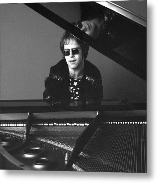 Portrait Of Elton John Metal Print