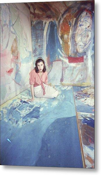 Portrait Of Helen Frankenthaler Metal Print by Gordon Parks