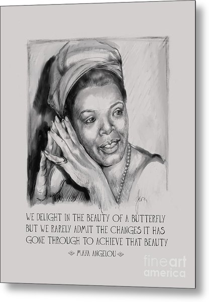 Portrait Of Maya Angelou Metal Print