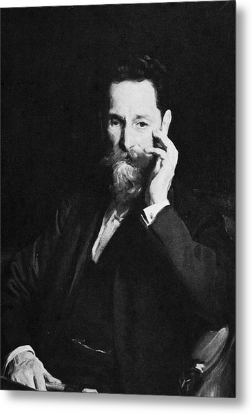 Portrait Of Publisher Joseph Pulitzer Metal Print by Hulton Archive