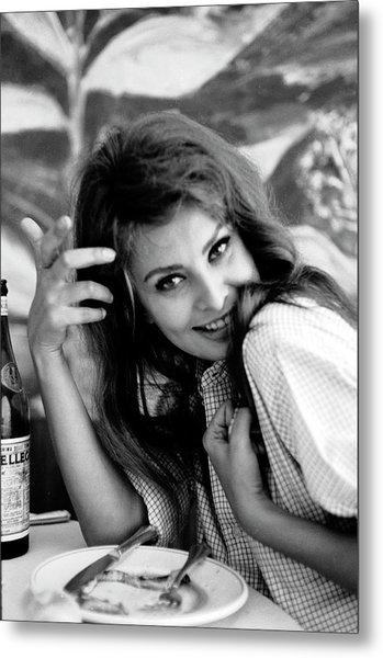 Portrait Of Sophia Loren Metal Print by Alfred Eisenstaedt