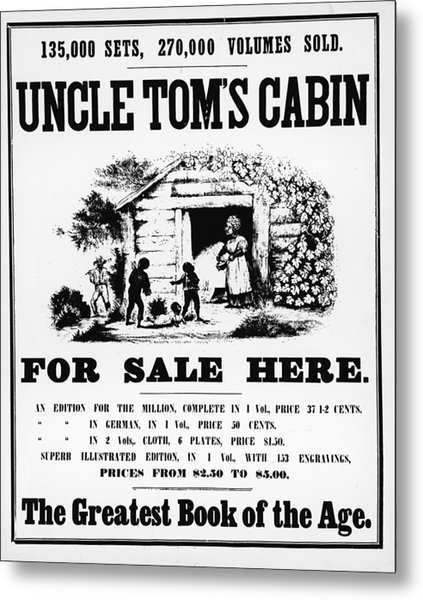 Poster For Uncle Toms Cabin Metal Print by Kean Collection