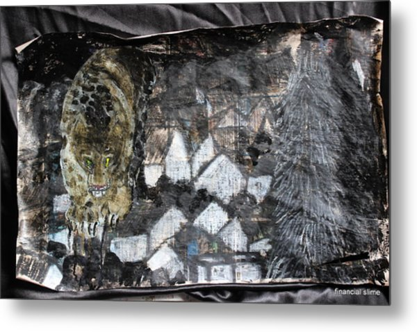 Power Strolled Onto The World Metal Print