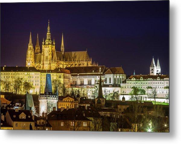 Prague Twilight Metal Print