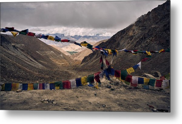 Prayer Flags In The Himalayas Metal Print