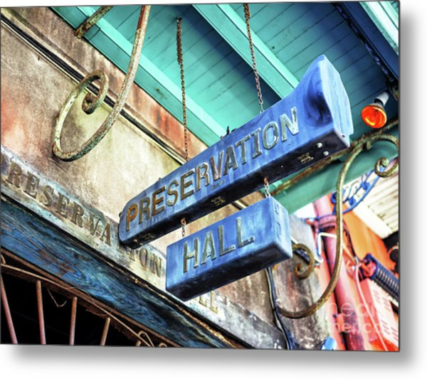 Preservation Hall In New Orleans Metal Print by John Rizzuto