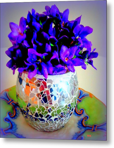 Pretty Purple Petals O T T Metal Print