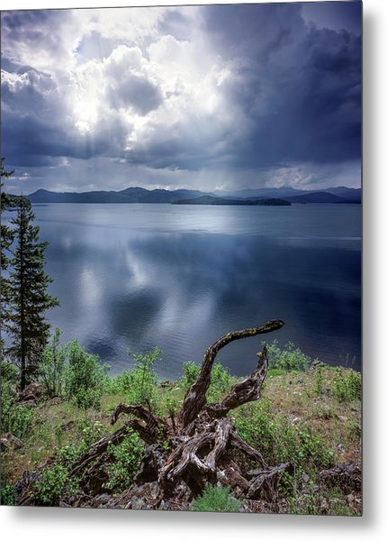 Priest Lake Light Metal Print by Leland D Howard