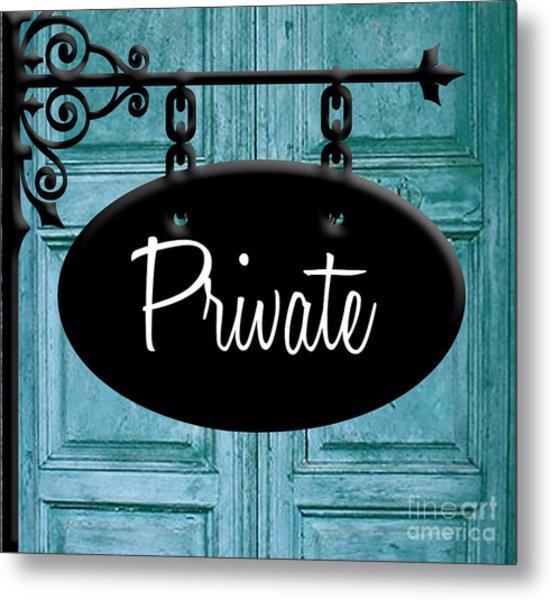 Private Metal Print