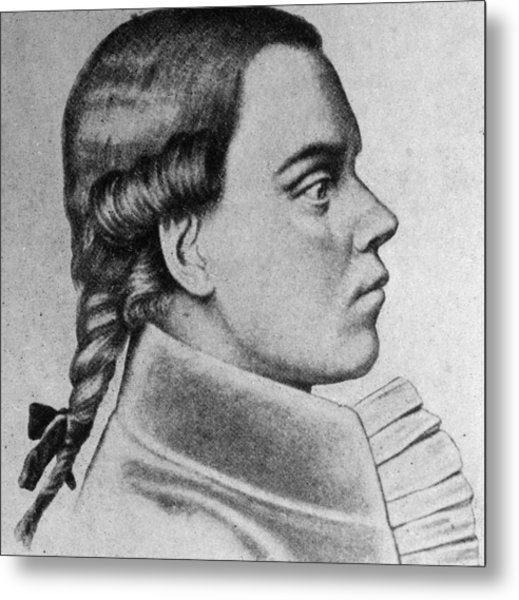 Profile Of Young Beethoven Metal Print by Hulton Archive